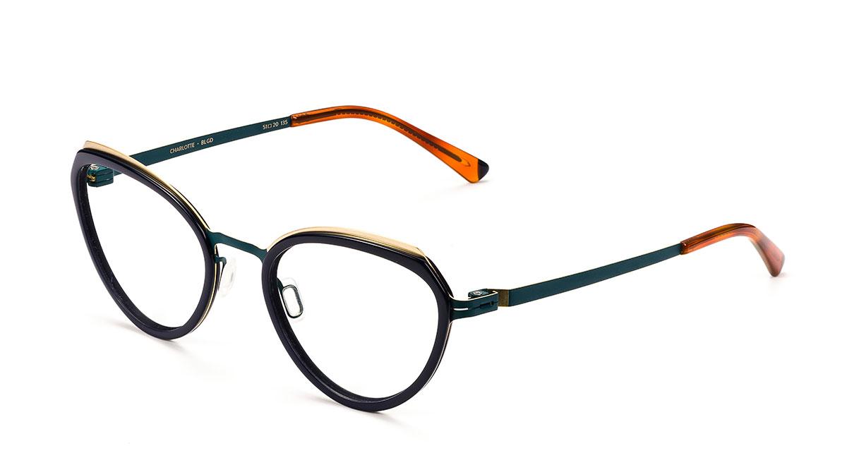 Etnia Barcelona Charlotte Blgd Blue Golden 51,20,135 Occhiali Eyeglasses Brille