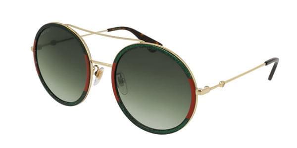 903fcedf00 Gucci Gg0061s 008 Gold Green 56,22,140 Occhiali sole Sunglasses Brille  Lunettes